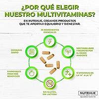 Multivitaminas 29 Nutrientes Esenciales | Vitaminas A, B, C, D, E, K, Biotina, L-cisteína, Coenzima Q10 y 9 Minerales | Complejo Multivitamínico 60 ...