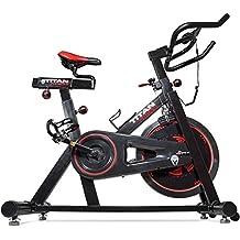 Titan Pro Indoor Exercise Bike w/ 40 lb Flywheel LCD Cycle Cardio Fitness
