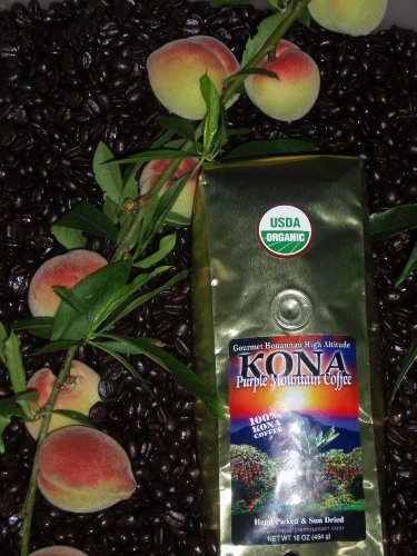 Certified Organic Kona Purple Mountain 16 oz Medium Roast / Whole Bean Always Fresh Roasted