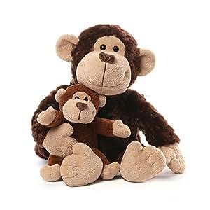 """Gund Monkey & Baby Plush, 14"""""""