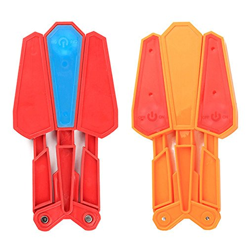 Hosyl Rotary Butterfly Knife Color Decompression Toys Kids and Adults Interactive Toys 2Pcs