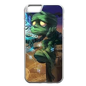 Amumu-001 League of Legends LoL case cover for Apple iPhone 6 Plus - Rubber White