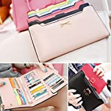 XXMAO Korean Version Women Sweet and Cute bow Multi- Card Handbag Long Wallet Black