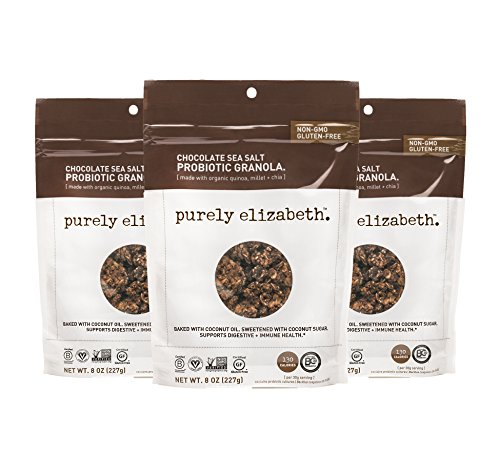 purely elizabeth Probiotic Gluten Free Granola, Chocolate Sea Salt, 3 Count