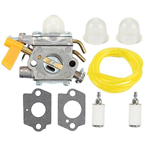 (Harbot 308054043 Carburetor with Fuel Line Filter for Ryobi RY28000 RY28005 RY28025 RY28020 CS26 RY28021 RY28040 SS26 RY28041 RY28045 26CC Trimmer RY28060 RY28065 Brushcutter 308054034)