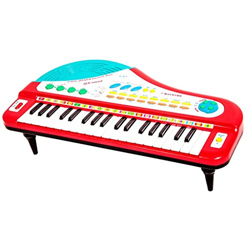 DUWEN Keyboard Children's Keyboard 37 Keys Accordion Keys Send Microphone Keyboard Enlightenment Instruments (Color : Red) by DUWEN