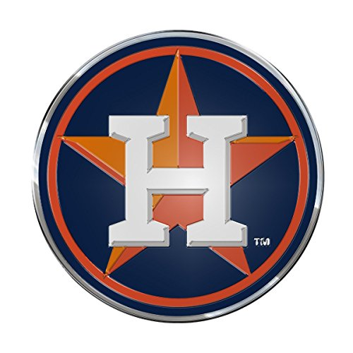 "MLB Houston Astros Aluminum Color Emblem, 3.25"" Diameter, Orange"