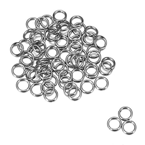 Housweety 500 Stainless Steel Open Jump Rings 5mm Dia. Findings (Open Ring 5mm)