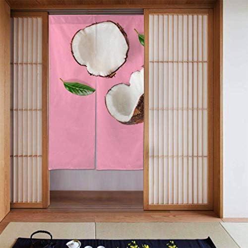 para Cortinas de Dormitorio Cortina de Ducha de Dormitorio de Coco Medio madura Cortinas de Dormitorio para Adolescentes Tipo Largo para decoración de Puertas de Cocina para el hogar 34 x 56