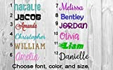 Name or Word Decal - Personalized - Solid and Glitter Color Choices