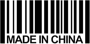 Made in China Barcode Decal Vinyl Sticker|Cars Trucks Vans Walls Laptop| Black|5.5 x 2.7 in|DUC1377