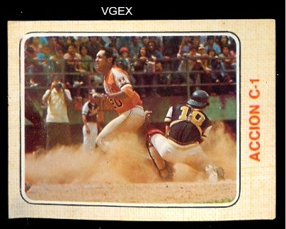 1974 Made in Venezuela Stickers (Baseball) Card# 138 accion ...