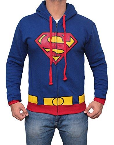 Miracle Superman Suit up Hoodie - Adult Superman Justice League 2017 Hoodie (Superman Adult Mens Hoodie)