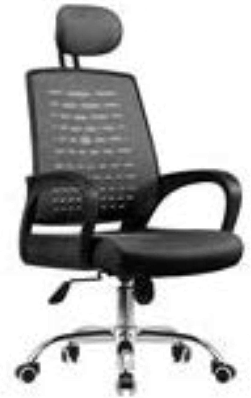 Transpirable silla de oficina Silla de la computadora Principal alumno Silla giratoria, la Silla Personal de la Escritura silla de oficina Silla de Red aprende Seguridad (Color : Black)