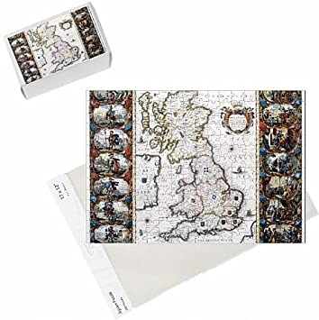 Photo Jigsaw Puzzle of AngloSaxon Heptarchy Map of the Kingdoms