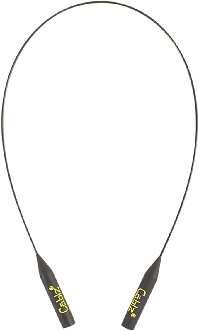 Cablz Zipz XL Authentic Adjustable Eyewear Retainer Black Extra Large Tip 9-17mm