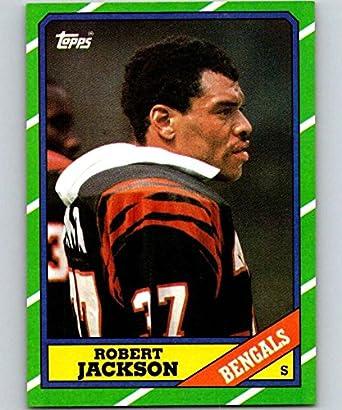 sale retailer 7932e 8c40f Amazon.com: 1986 Topps #266 Robert Jackson Bengals NFL ...