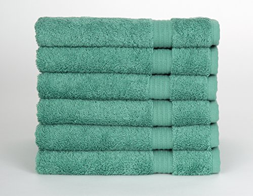 TowelSelections Sunshine Collection Soft Towels 100% Turkish Cotton 6 Hand Towels Green Spruce