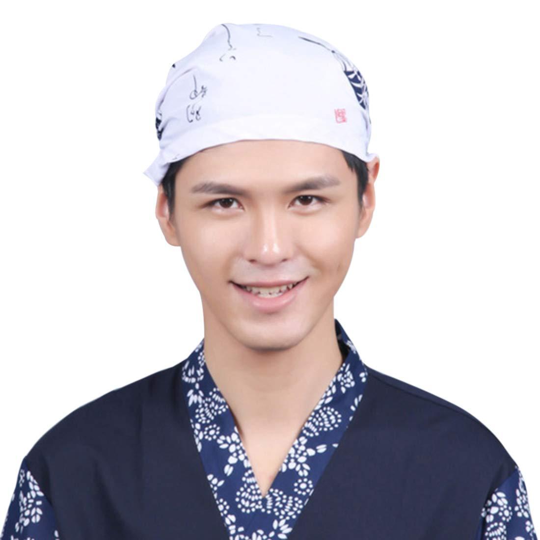 YUENA CARE Sushi Japanese Chefs Hat Kitchen Restaurant Cooking Cap Baking Work Hats