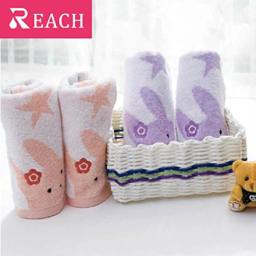 LS Small Bathroom Hand and Face Towels-2 Packs