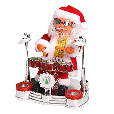 Elevin(TM)???????? Santa Claus Performance Singing Musical Santa Electric Toy Ornaments gife (B): Toys & Games