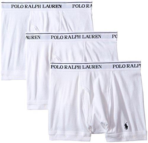 Polo Ralph Lauren  Men's 3-Pack Boxer Brief White Small -