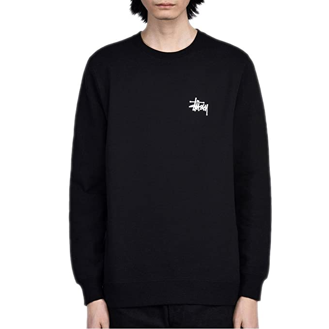228809d759 Felpa Stussy - Basic nero formato: S (Small): Amazon.it: Abbigliamento