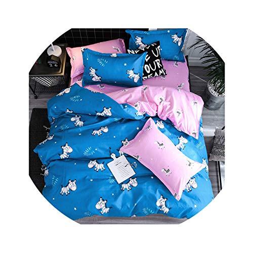 love enjoy Home Textile King Queen Twin Bed Linens Black Shooting Star Duvet Cover Sheet Pillowcase Boy Kid Teen Girl Bedding Sets,10,Twin 4Pcs,Flat Bed Sheet