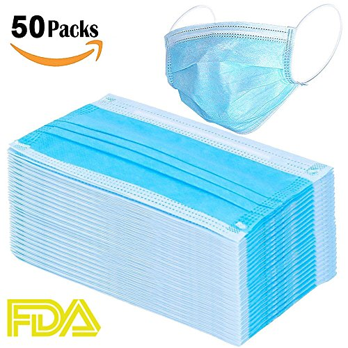 Disposable Masks 2018 Quality Brand-New Upgraded Design Single Use Virus-Proof Simple European 3-Layer Sanitary Disposable Respirator Mask for Hospital Medical, Surgery Surgical,Flu Allergy Masks