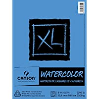 Canson XL Series Watercolor Textured Paper Pad for Paint,...