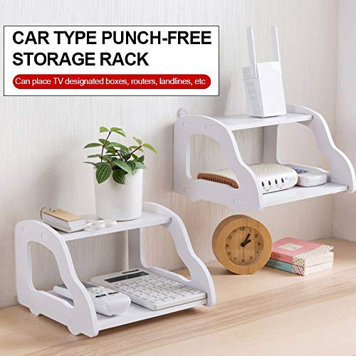 Storage Rack Shelf Router Creative Wood - Plastic Board Automobile Shape Clapboard Holder Toiletries ()