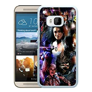 mass effect character space faces ship White New Design Phone Case For HTC ONE M9 Case