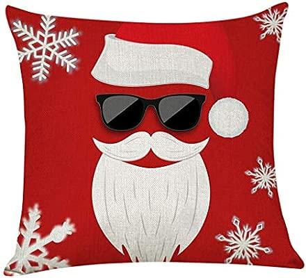 HEVÜY Fundas Decorativas para Cojines de Navidad, sofá, el ...