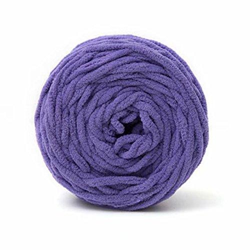 Celine lin One Skein Super Soft Baby Blanket Yarn Big Warm Scarf Yarn Crochet Yarn,Purple
