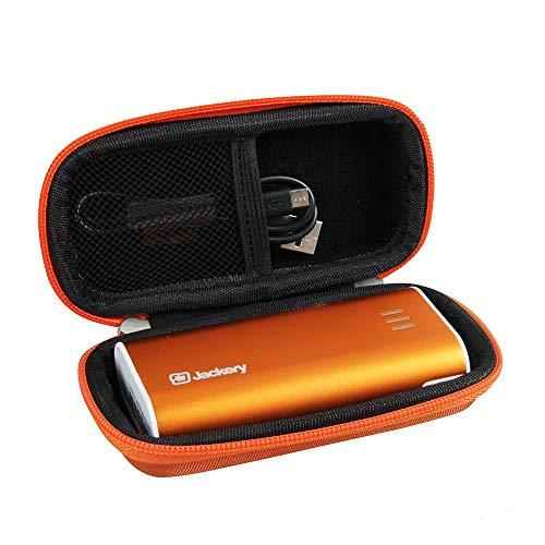 Hermitshell Hard EVA Travel Orange Case fits Jackery Bar Pocket-Sized 6000mAh Ultra Compact Portable Charger