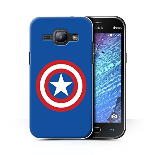 ver for Samsung Galaxy J1 Ace/J110 / Captain Shield Inspired Design/Super Hero Comic Art Collection ()