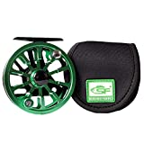 Cheap SF Mars Fly Fishing Reel with CNCMachined Aluminum Alloy Body 5/6 Weight with Reel Cover (Black Green)