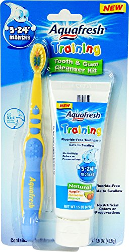 Aquafresh formation nourrissons dent et la gencive Kit Nettoyant Banane Saveur - 1 Kit