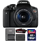 Canon EOS Rebel T6i 24.2MP DSLR Camera with 18-55mm IS STM Lens and 16GB Memory Card