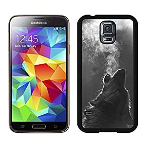Unique Winter Wolf Howling S5 Case for Girls Nice New Samsung Galaxy S5 Case for Boys Black Cover by runtopwell