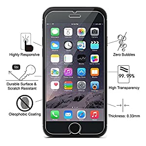 iPhone 7 8 Screen protector Glass, HWTONG Screen Protect iPhone 7 8, Tempered Glass iphone 8 7, 3D Touch Compatible, 9H Hardness, No Bubbles, Oil and Scratch Coating, Touch Clear [4.7 inch] [2 Packs] from HWTONG