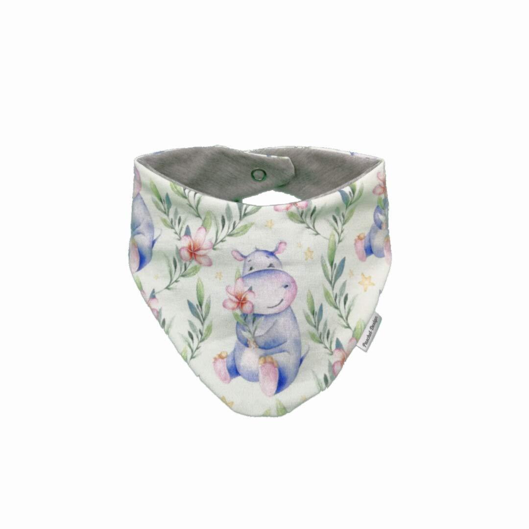 Handmade Baby Halstuch Dreieckstuch sweet Hippo Puschel-Design
