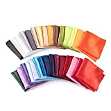 30 PCS Mens Pocket Squares Handkerchief For Wedding Party ( 30 Kinds of Colors)