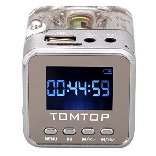 201 opinioni per Andoer Tomtop Mini Digital Music Portatile MP3 / 4 Player micro SD / TF USB Disk