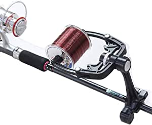 Fishing Line Winder Spooler Machine Spinning Reel Spool, Spooling Station System, Multifunction Portable Manual Fishing Lines Winding Adjustable Tools for Varying Spool Sizes Men Women (Use on Rod)