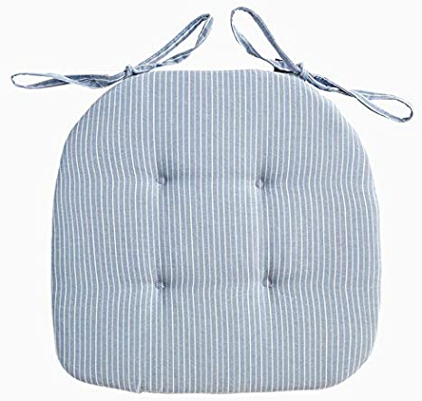 con Legami D Forma 42x40 Spessore 2cm,White Design Trapuntato Mkuha 4 Cuscini da Sedia per Dentro e Fuori Pieno di Spugna