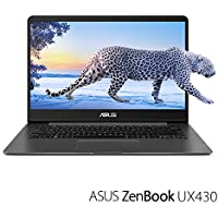 "ASUS ZenBook Thin and Light Laptop - 14"" FHD wideview display, 8th gen Core i7-8550U CPU, 16GB DDR3, 512GB SSD, Backlit keyboard, FPR, Quartz Grey, Windows 10 Home - UX430UA-DH74"