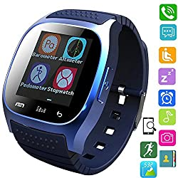 Smart Watch Wireless Touch Screen Bluetooth Wristwatch Sleep Sports Monitor Pedometer for Android Samsung ios iphone 7 Plus 6S Waterproof Smartphones
