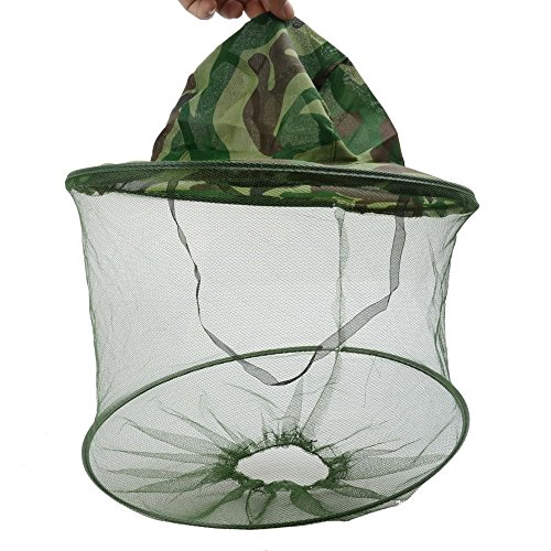 Y Y Star Outdoor Camo   Camouflage Large 13 7 Inch Brim Beekeeper Beekeeping Anti Mosquito Bees Bee Bug Insect Fly Mask Cap Hat With Head Net Mesh Face Protection Outdoor Fishing Equipment  2Pcs