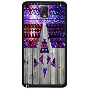 Purple and Pink Nubula Tribal Pattern on Wood Hard Snap on Phone Case (Note 3 III)
